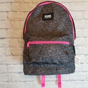 PINK Victoria's Secret Marled Grey Campus Backpack